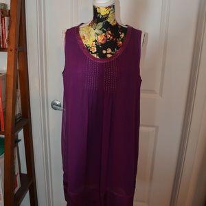 Gerard Darel Purple silk dress